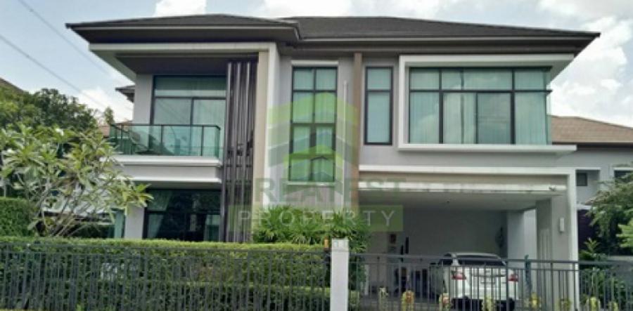 หมู่บ้าน เดอะแกรนด์ บางนา วงแหวน  The Grand Bangna – Wongwaen  ขายด่วน บ้านเดี่ยว 2 ชั้น เนื้อที่ 90 ตร.ว ดอกไม้