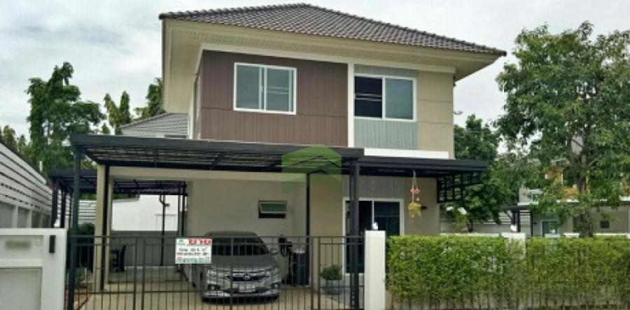 หมู่บ้านเพอร์เฟค พาร์ค สุวรรณภูมิ ร่มเกล้า6/1 ขายด่วน บ้านเดี่ยว 2 ชั้น Perfect Park Suvarnabhumi  เนื้อที่ 55.30 ตร.ว แปลงริม  ร่มเกล้า มีนบุรี กรุงเทพฯ