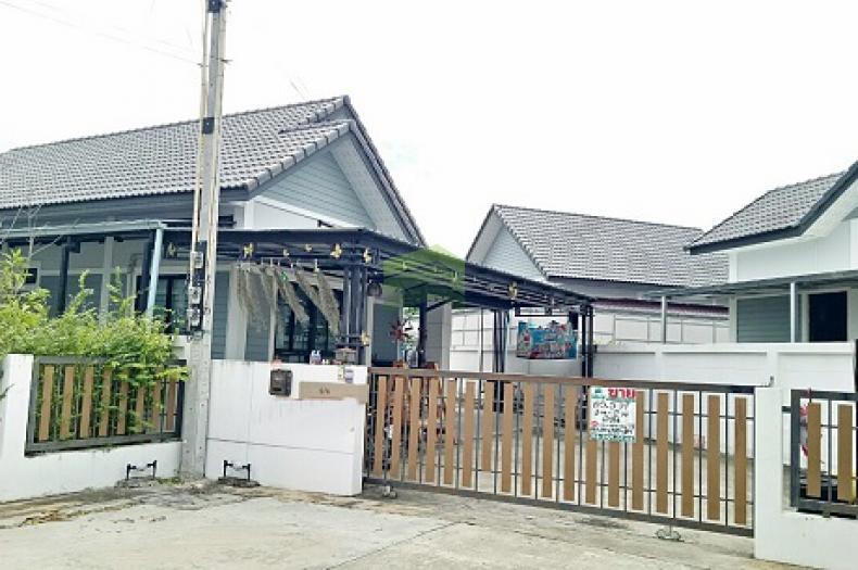 หมู่บ้าน นาราวิลล์ พานทอง ชลบุรี ขายด่วน บ้านเดี่ยว ชั้นเดียว เนื้อที่ 85.20 ตร.ว แปลงมุม พร้อมอยู่