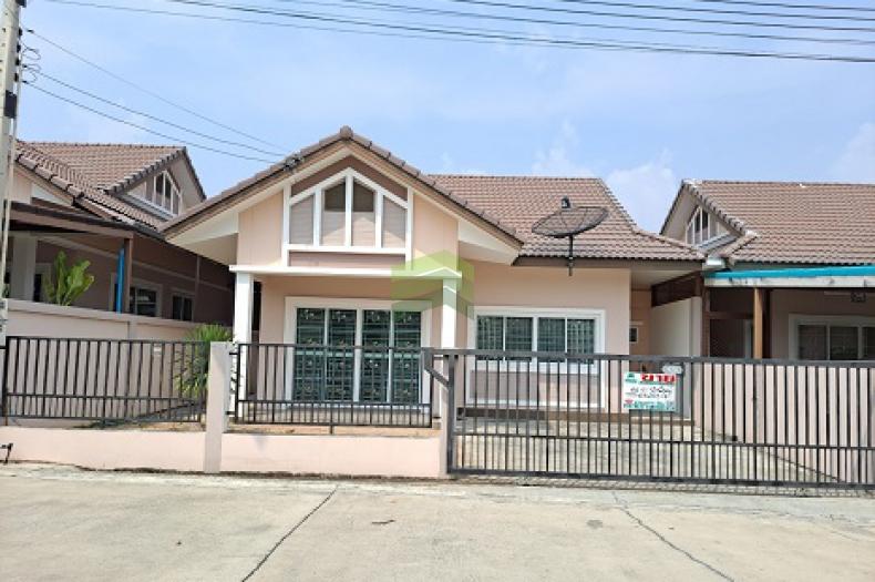 หมู่บ้าน บี ลีฟโฮม B Leaf Home บ่อวิน ชลบุรี ขายด่วน บ้านเดี่ยว ชั้นเดียว เนื้อที่ 44 ตร.ว พร้อมอยู่