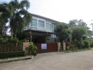 N0600429 , !!ขายด่วน!! บ้านเดี่ยว 2 ชั้น แปลงริม หมู่บ้าน บางกอก บูเลอวาร์ด รามอินทรา 3 เนื้อที่ 64.5 ตร.ว (Bangkok Boulevard Ramintra 3) คันนายาว  กรุงเทพฯ