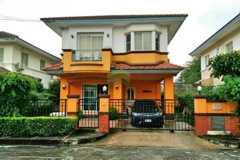 หมู่บ้านมัณฑนา ราชพฤกษ์  ขายด่วน บ้านเดี่ยว 2 ชั้น เนื้อที่ 52 ตร.ว. บางกร่าง เมืองนนทบุรี