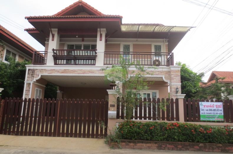 +ขายด่วน+ บ้านเดี่ยว 2 ชั้น สไตล์รีสอร์ท หมู่บ้านจิตรธารา แปลงมุม เนื้อที่ 64.6 ตร.ว. พุทธมณฑลสาย 3  ทวีวัฒนา  กรุงเทพฯ