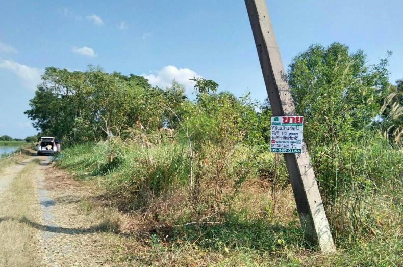 ขายด่วน ที่ดินเปล่าถมแล้ว ถ.คลองหกตะวันออก (ระหว่าง ซอย100-102) เนื้อที่ 110 ตรว.คลองหลวง ทำเลเหมาะปลูกบ้านสวน