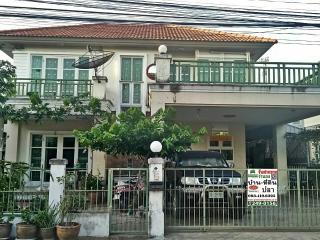 N0600800, ขายด่วน บ้านเดี่ยว หมู่บ้านชวนชื่น ศรีนครินทร์-เทพารักษ์  เนื้อที่ 54.80 ตร.ว ทำเลดี เหมาะพักอาศัย บางเมือง เมืองสมุทรปราการ