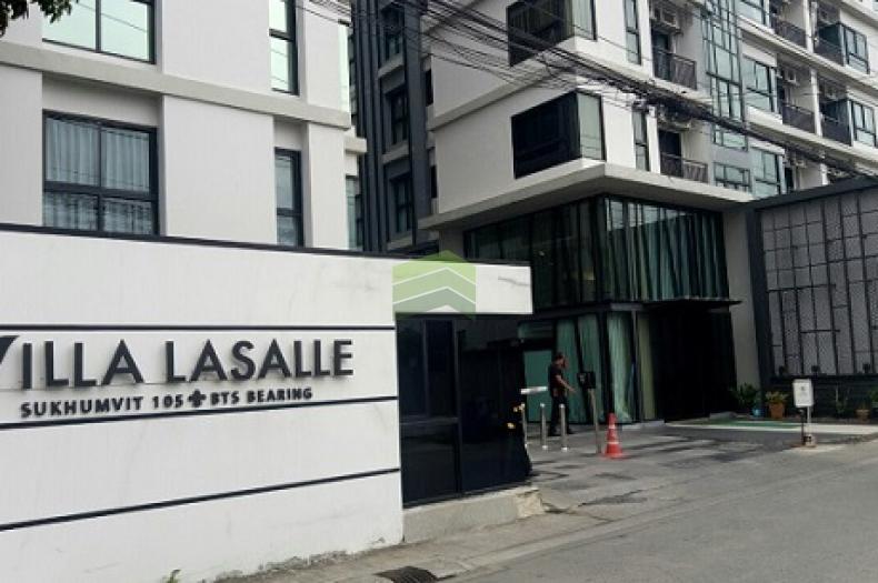 คอนโด วิลล่า ลาซาล สุขุมวิท 105  Villa Lasalle Sukhumvit 105 ขายด่วน อาคารบี ชั้น 4 เนื้อที่ 26 ตร.ม. พร้อมเฟอร์ ใกล้ รถไฟฟ้า BTS แบริ่ง บางนา