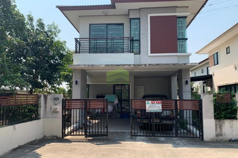 หมู่บ้าน ฟ้ากรีนพาร์ค รังสิต คลอง3 Baanfah GreenPark Rangsit – Klong 3 ขายด่วน บ้านเดี่ยว 2 ชั้น เนื้อที่ 56.80 ตร.ว แปลงมุม บ้านสวย พร้อมอยู่